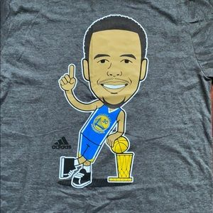 NBA Adidas Golden State Warrior Stephen Curry Tee